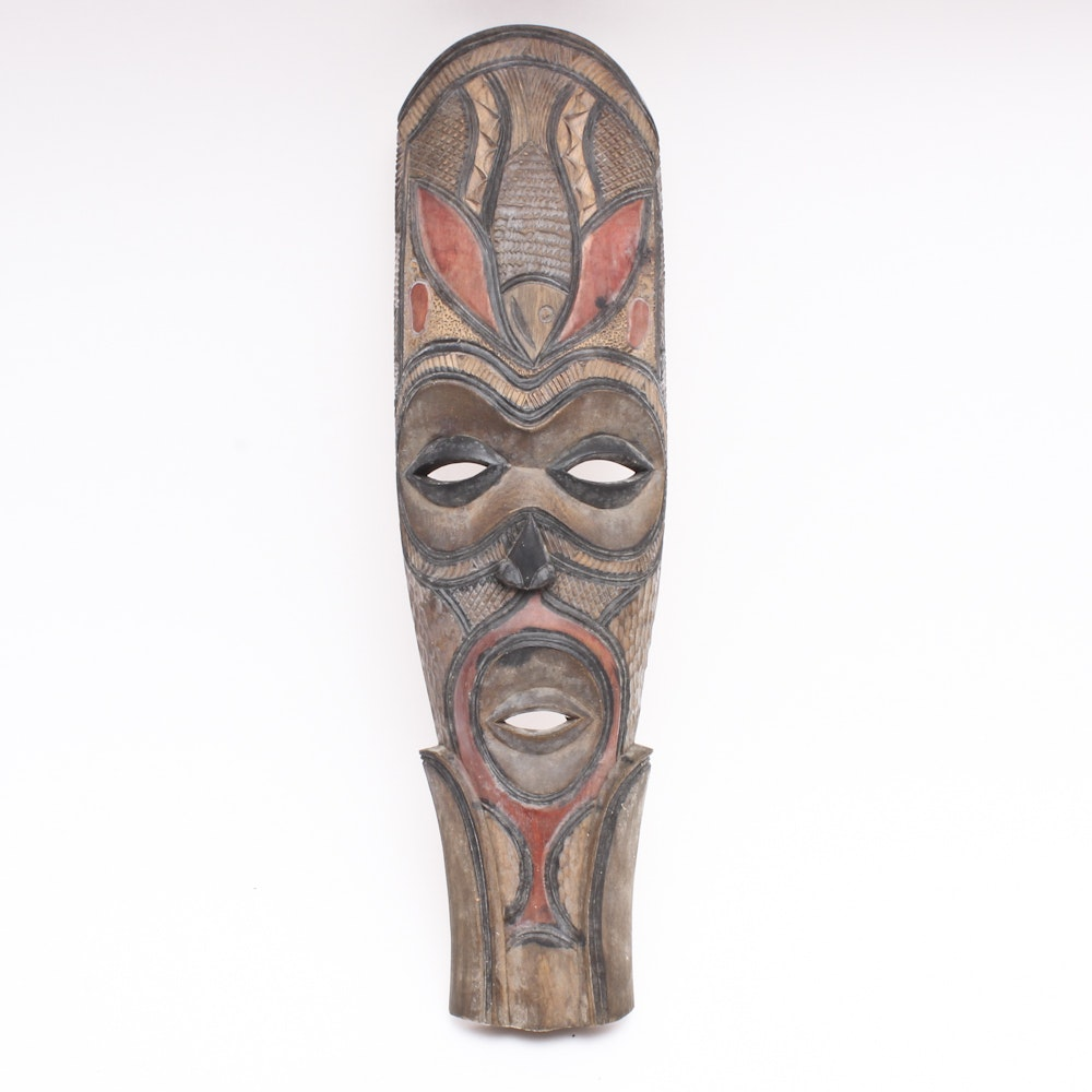 Large Carved Mask From Paula New Guinea