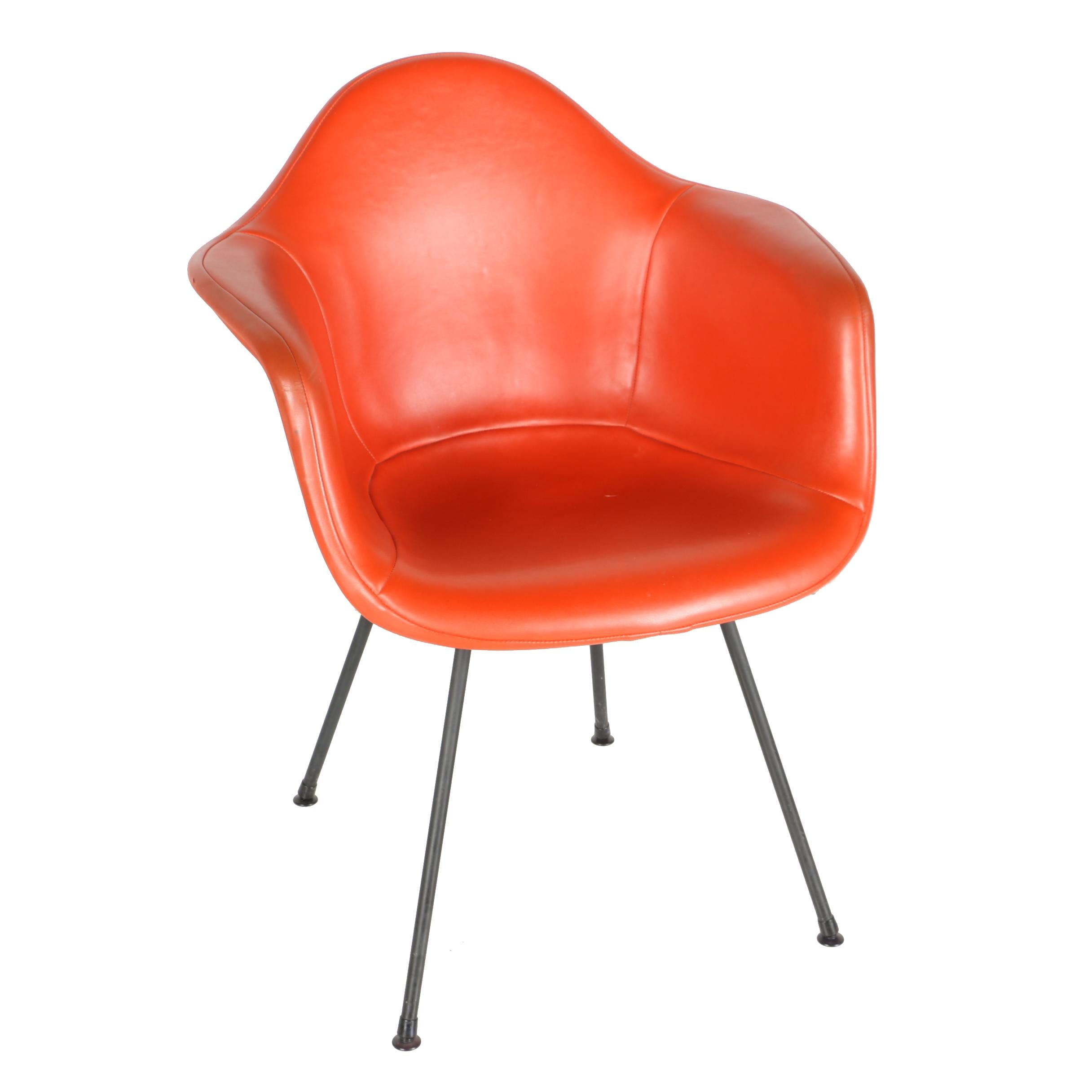"""Mid Century Modern """"DAX"""" Shell Chair by Eames for Herman Miller With Invoice"""