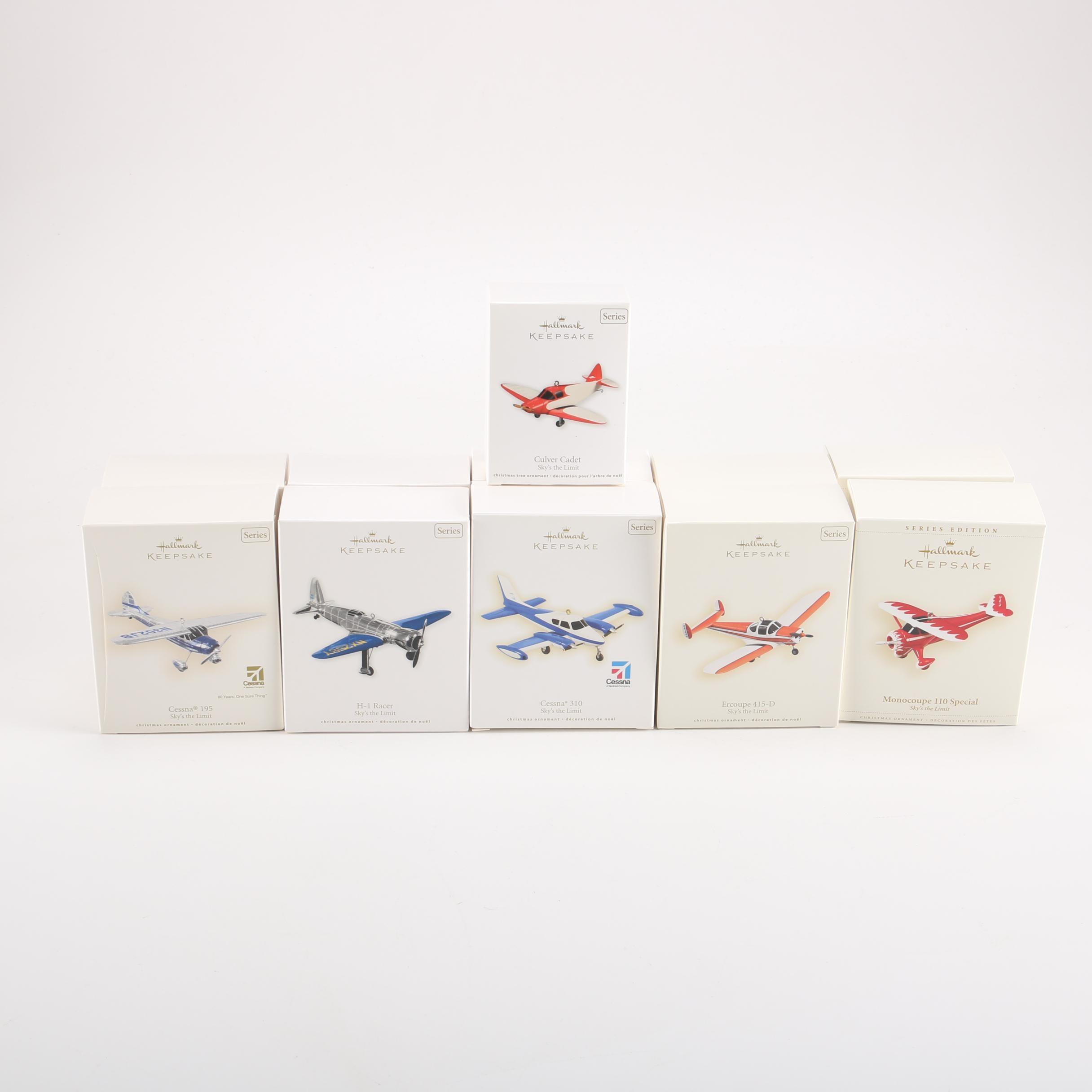 Hallmark Keepsake Die-Cast Airplane Ornaments