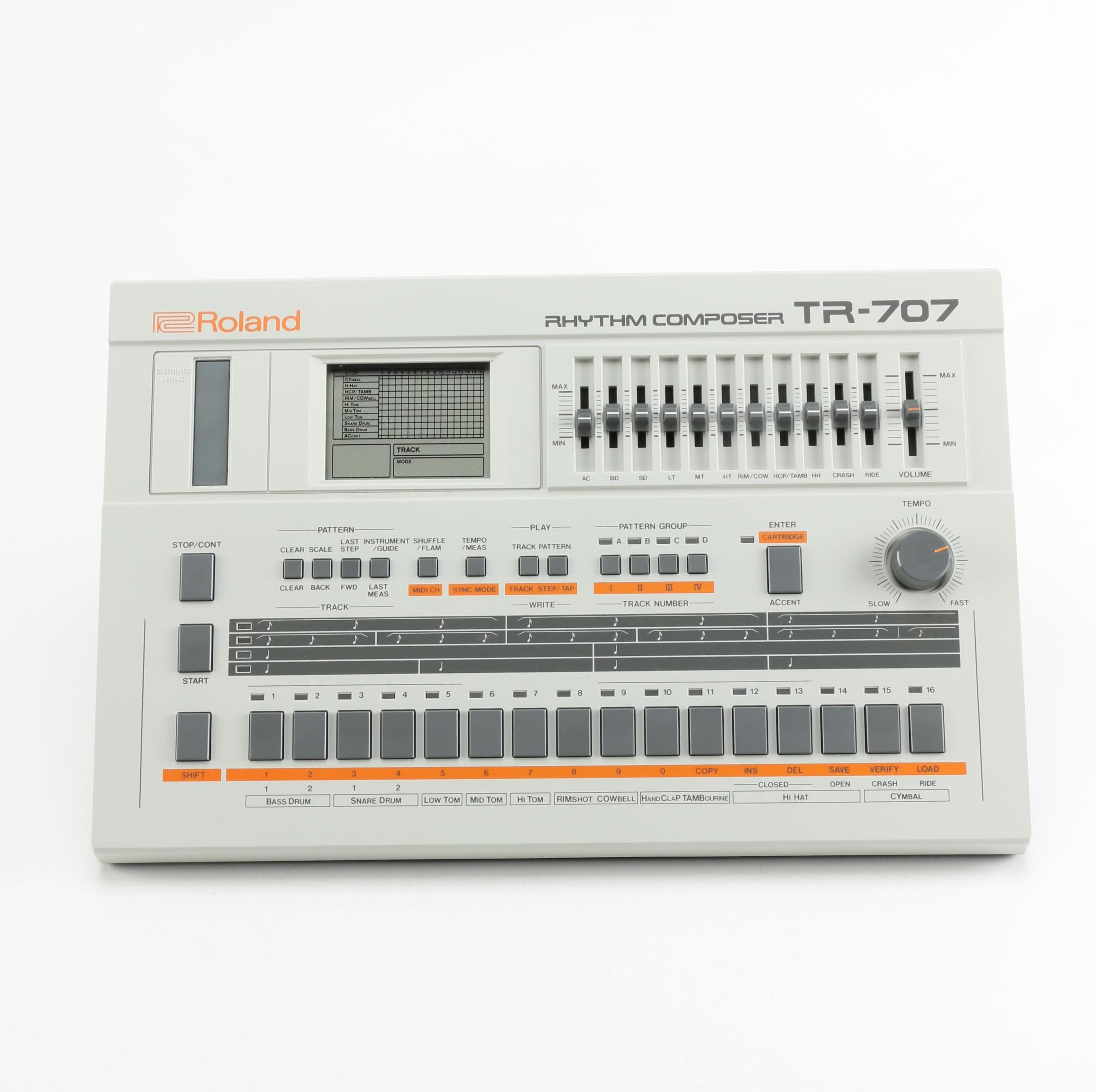 Vintage Roland TR-707 Drum Machine