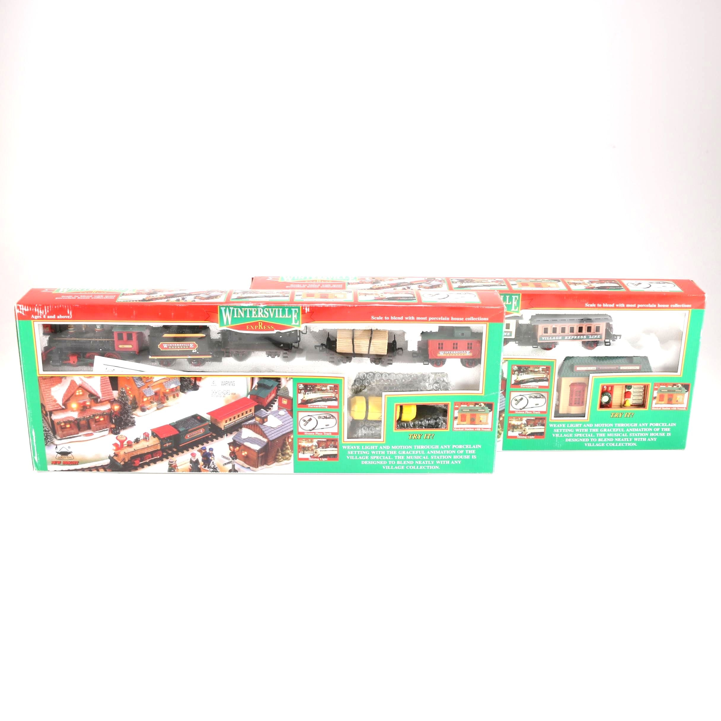 Pair of Winterville Express Train Sets
