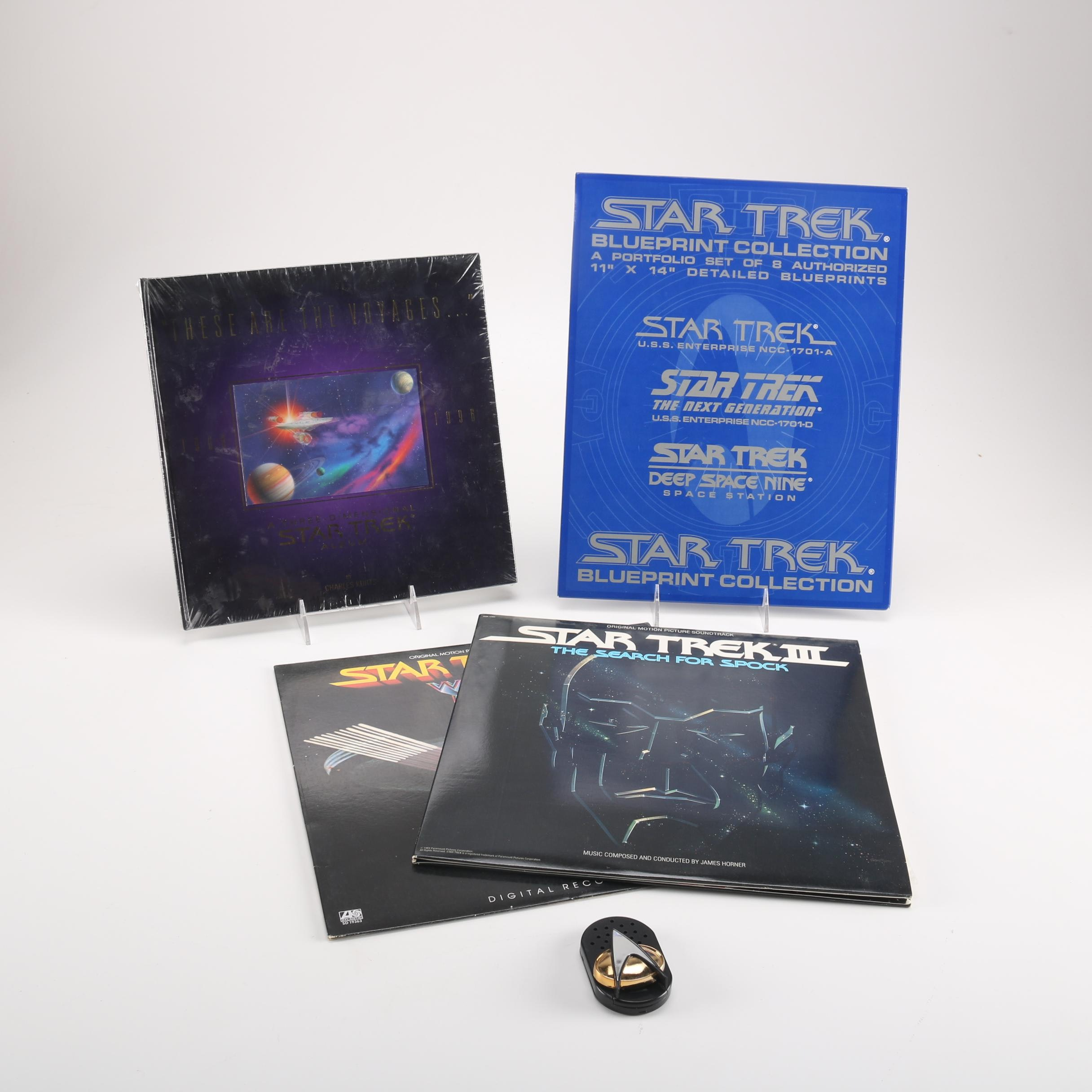 """Star Trek"" Vinyl LP Soundtracks, Blueprints and 3-D Picture Book"