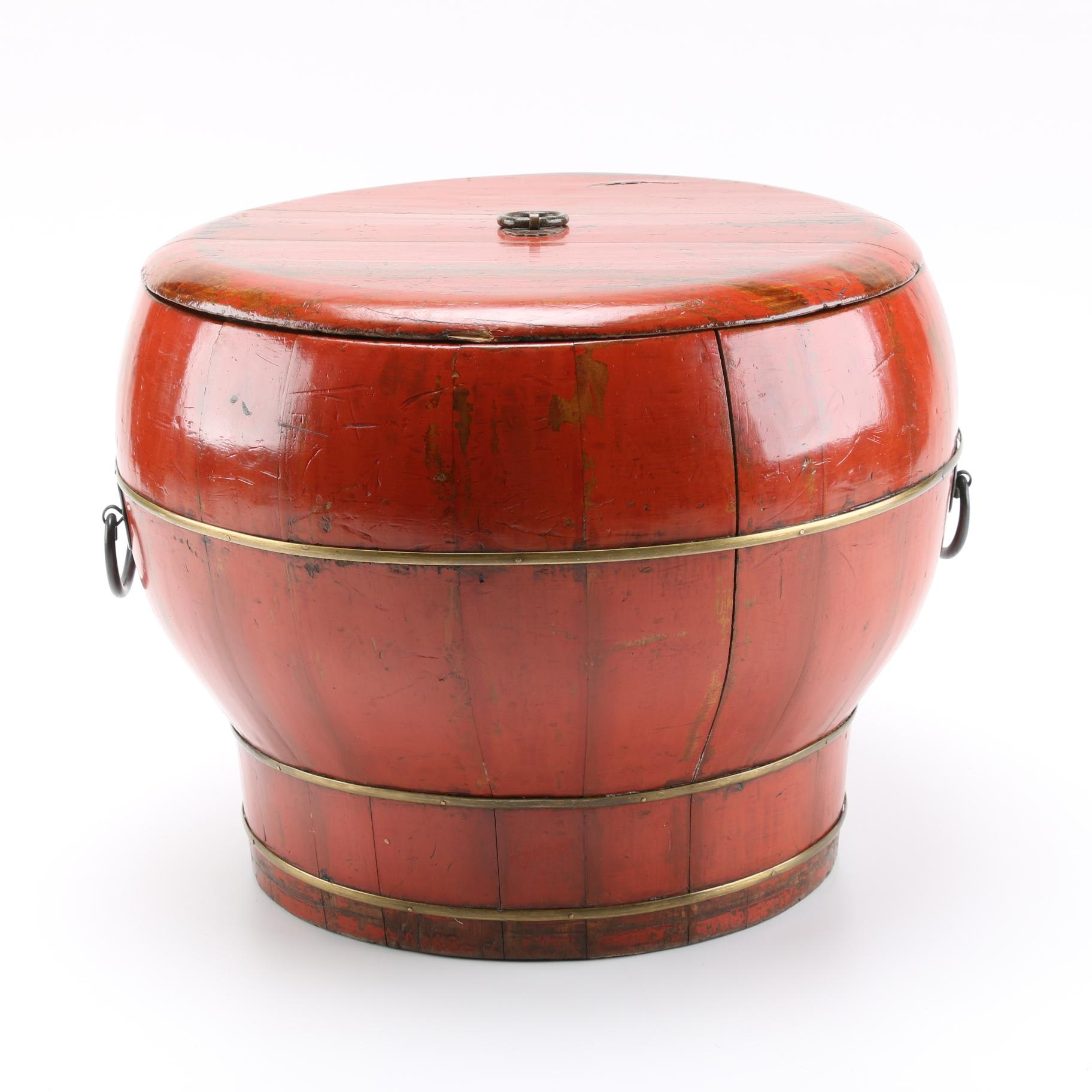 Chinese Wooden Lidded Bucket
