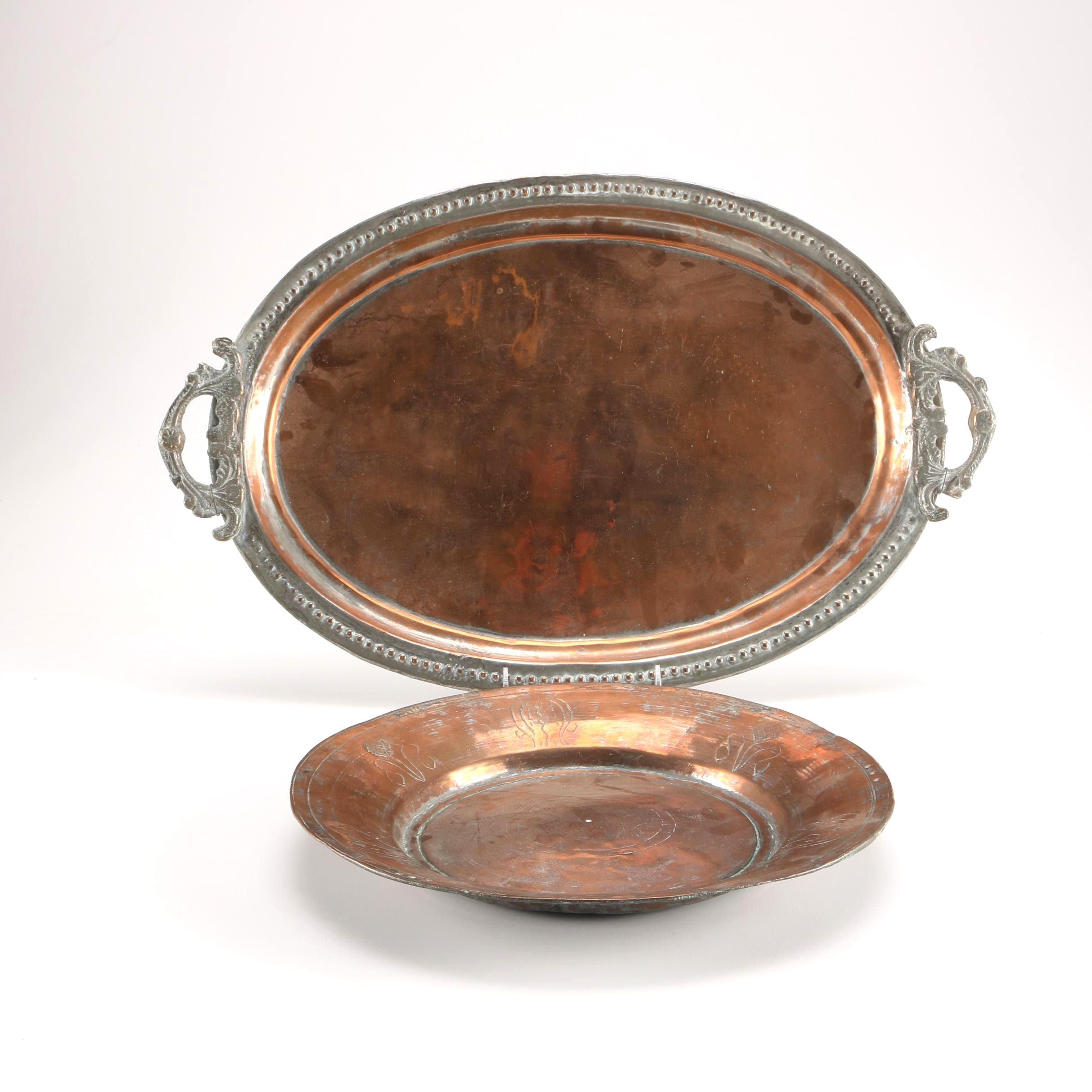 Brass and Steel Servingware