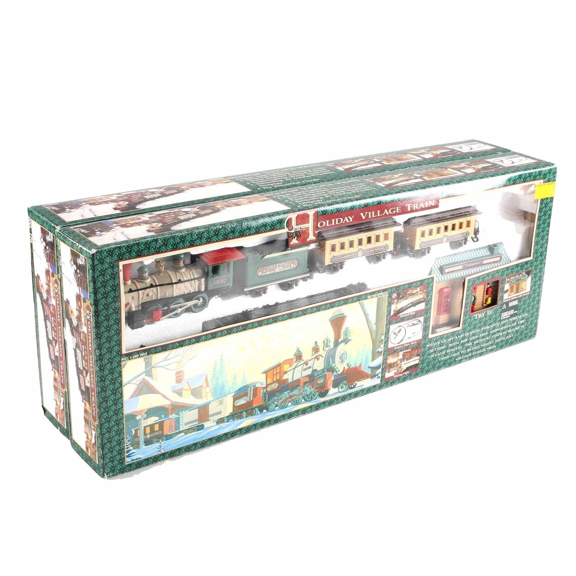 Pair of Holiday Village Train Sets