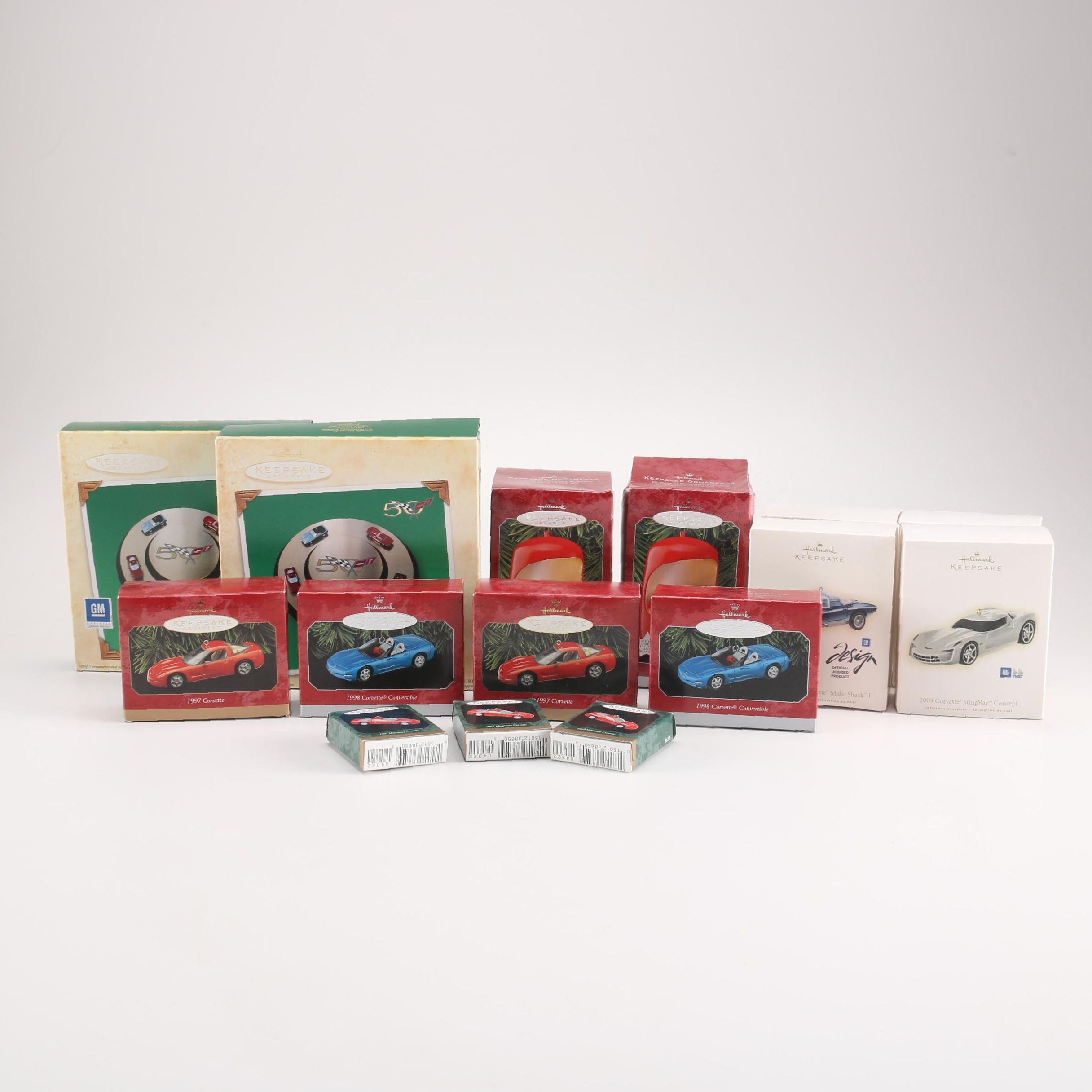 "Hallmark ""Keepsake Collection"" Corvette Ornaments"