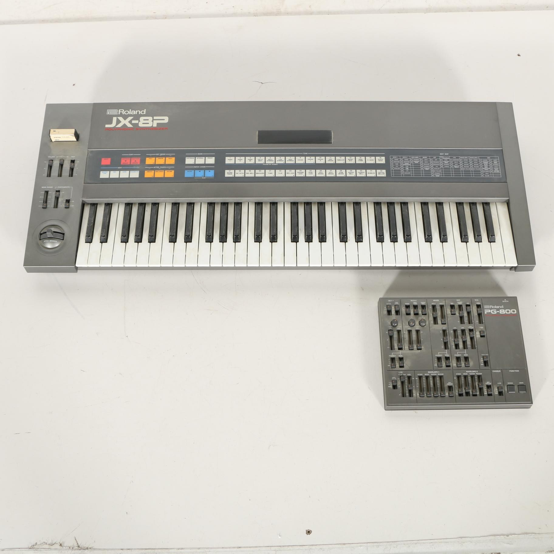 Vintage Roland Analog Polyphonic Synthesizer and Programmer