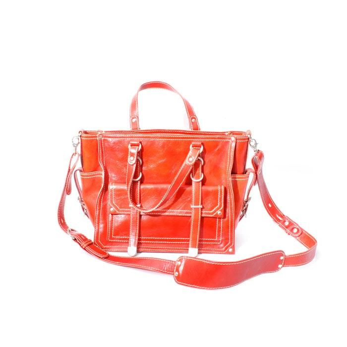 Red Francesco Biasia Leather Bag