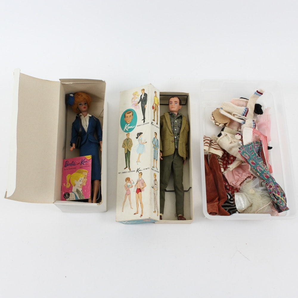 Early Ken and Barbie Dolls