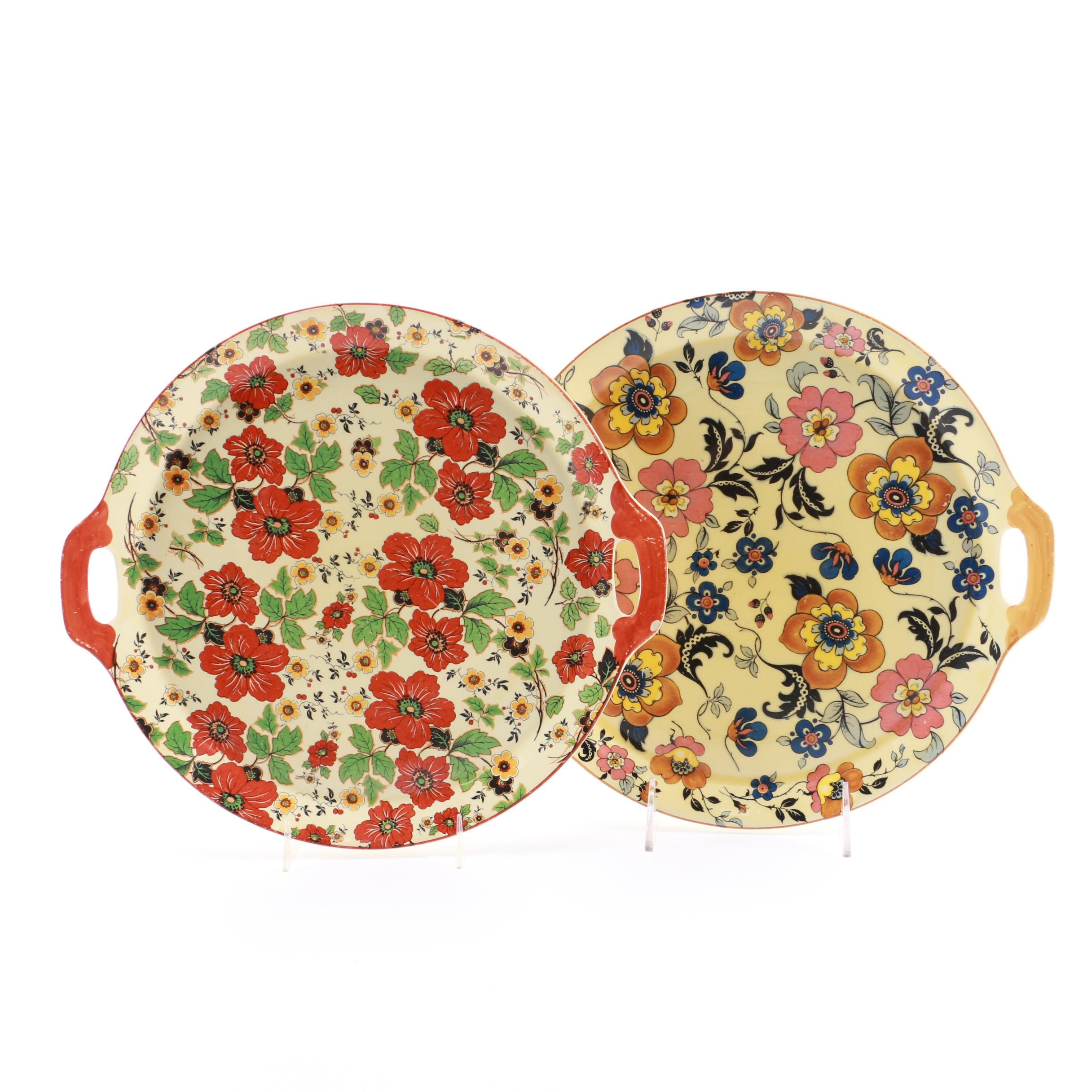 Floral Serving Trays