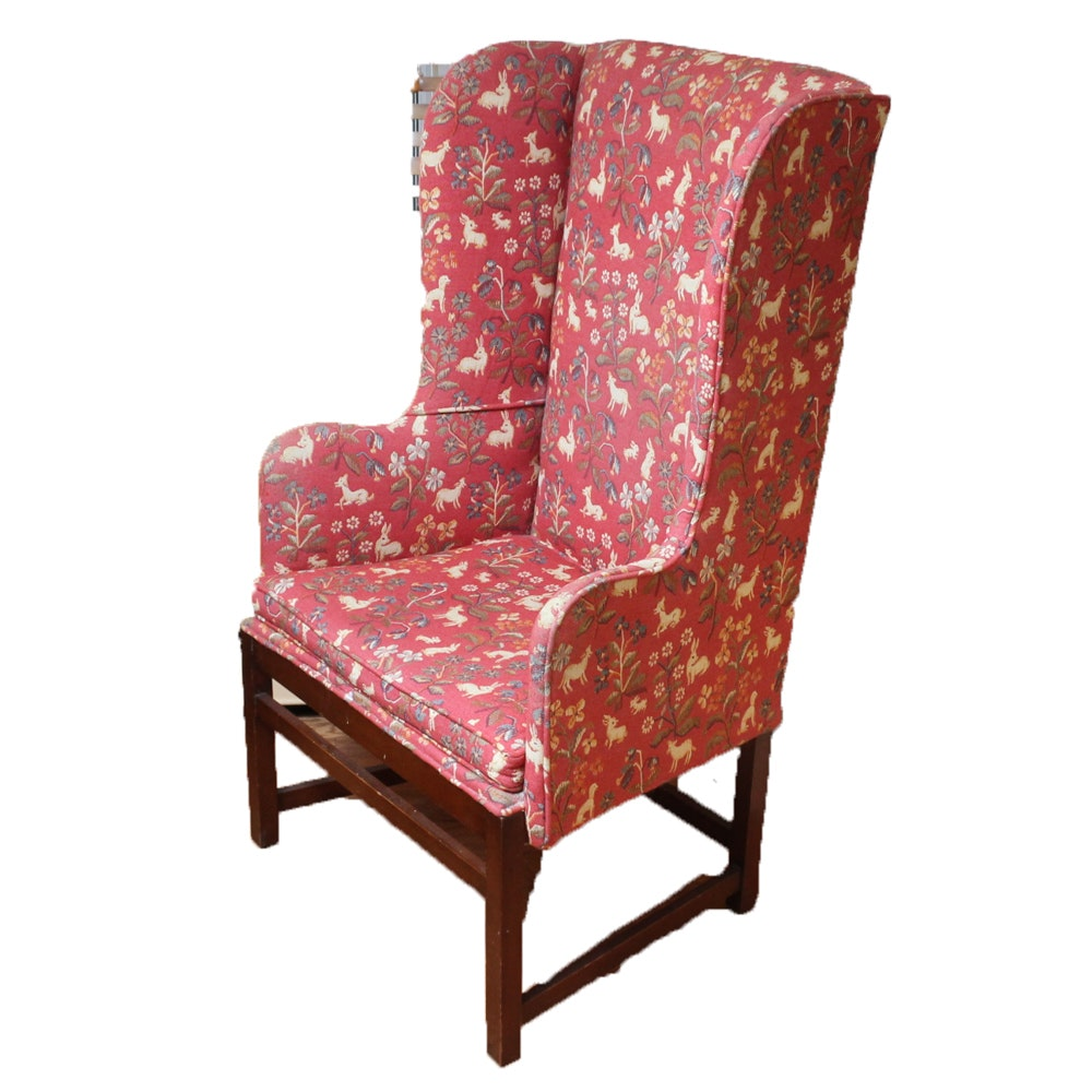 Upholstered Wing Back Arm Chair