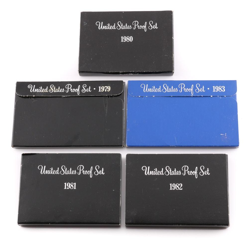 Five U.S. Mint Proof Sets