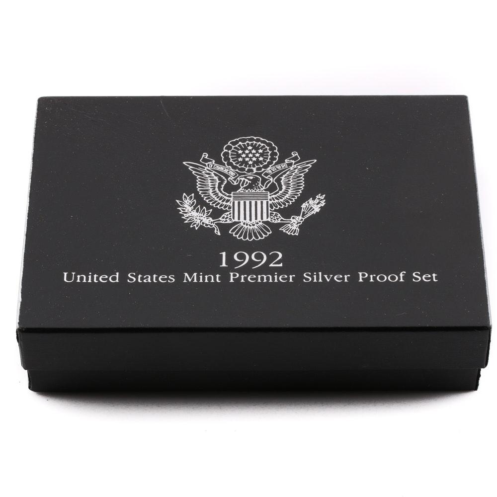 1992 U.S. Mint Premier Silver Proof Set