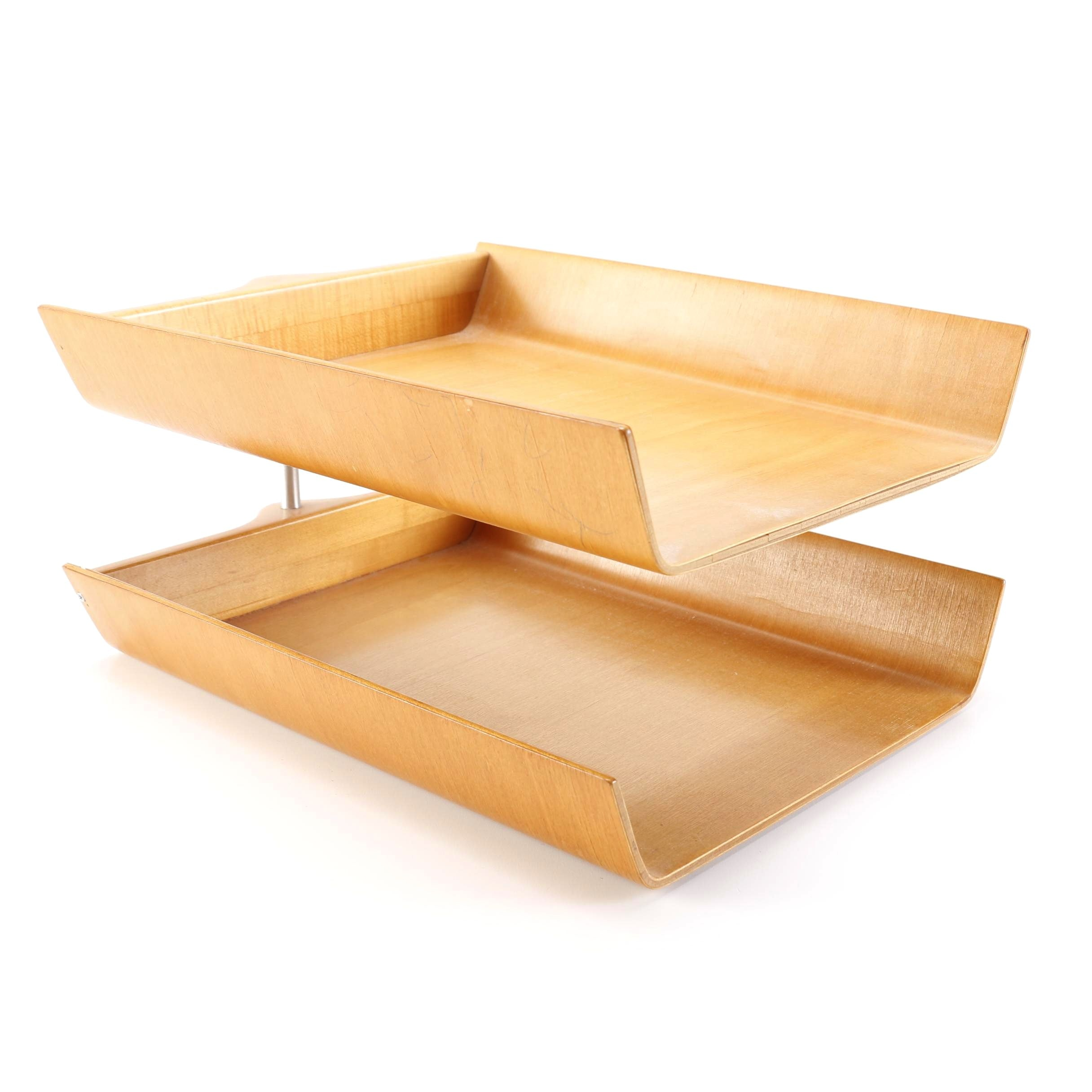 Florence Knoll Paper Tray Of Ash Wood