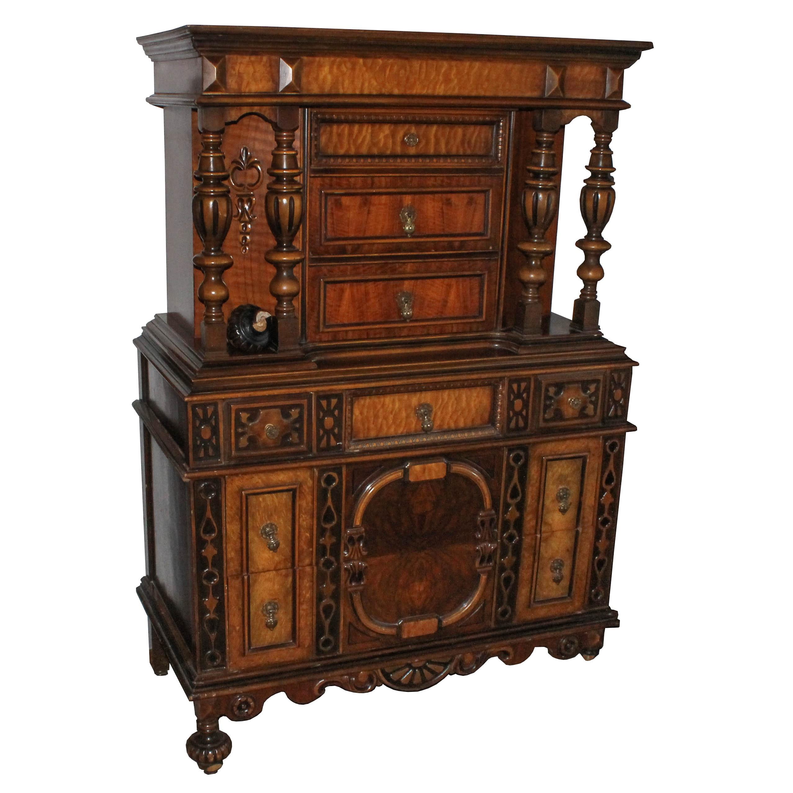 Antique Eastlake Style Gentleman's Dresser