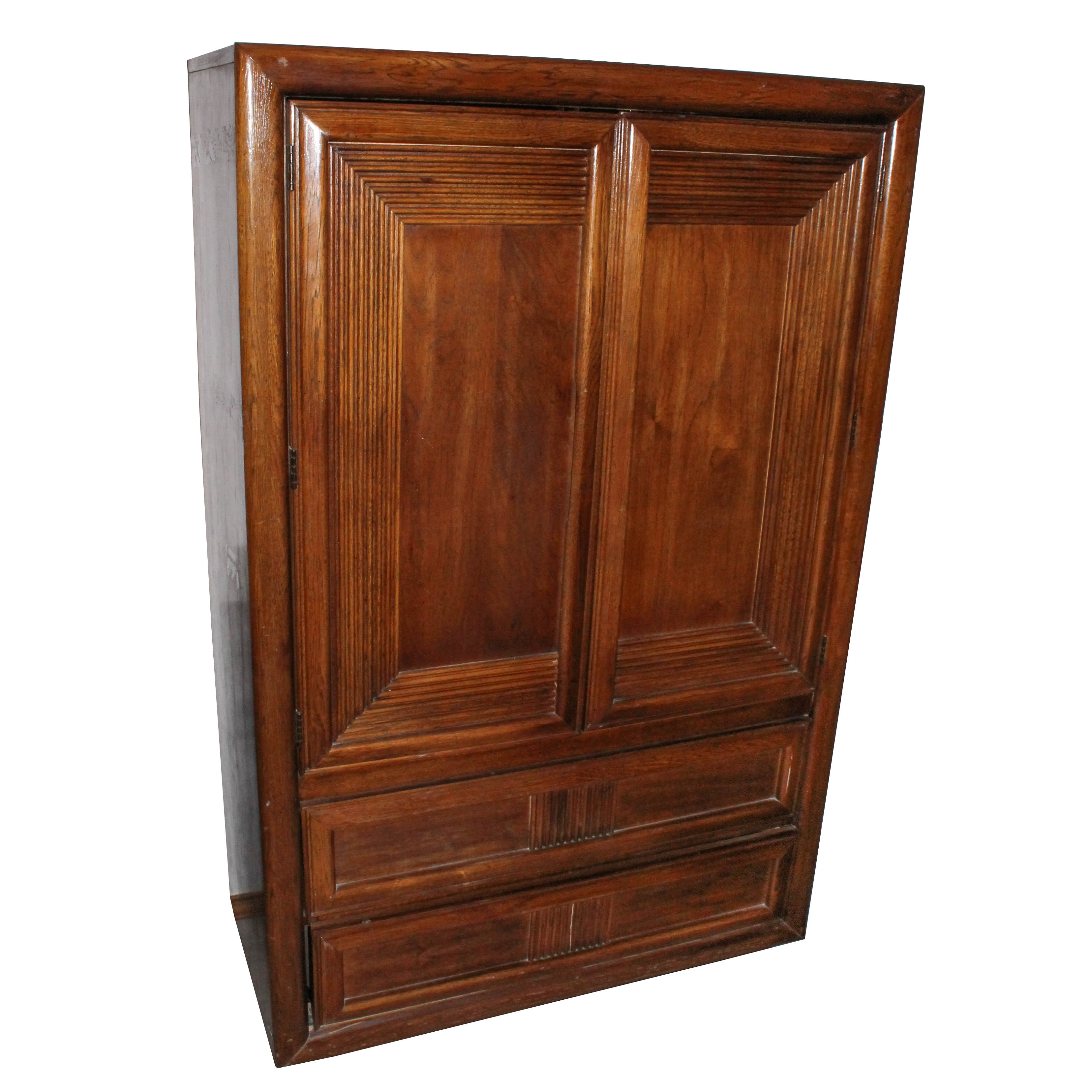 Vintage Oak Wooden Armoire