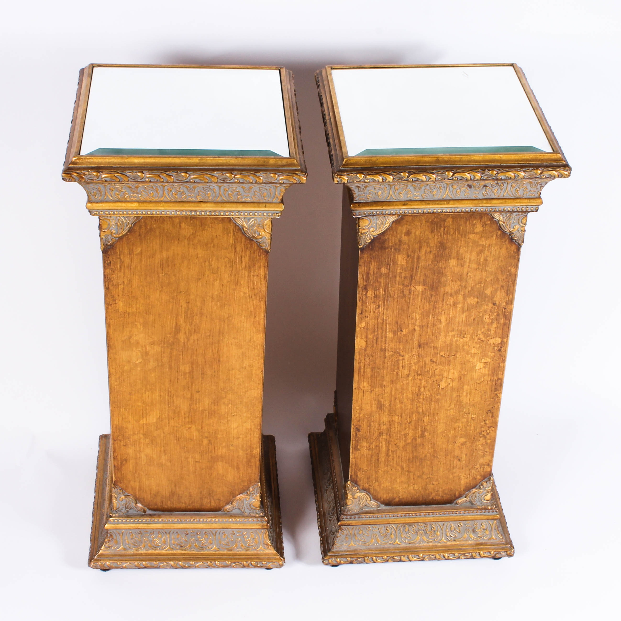 Mirror Top Accent Tables