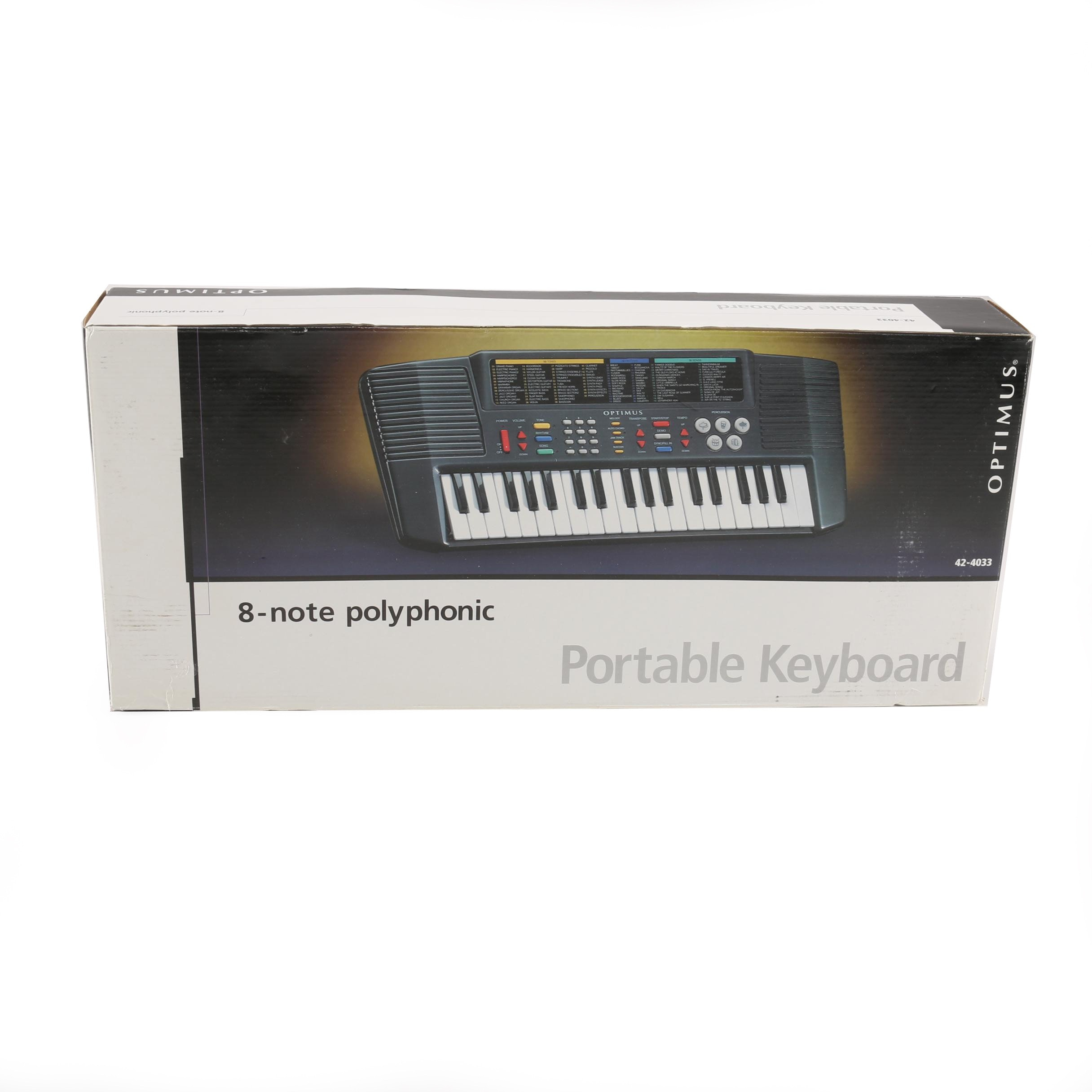 Optimus Eight-Note Polyphonic Portable Keyboard