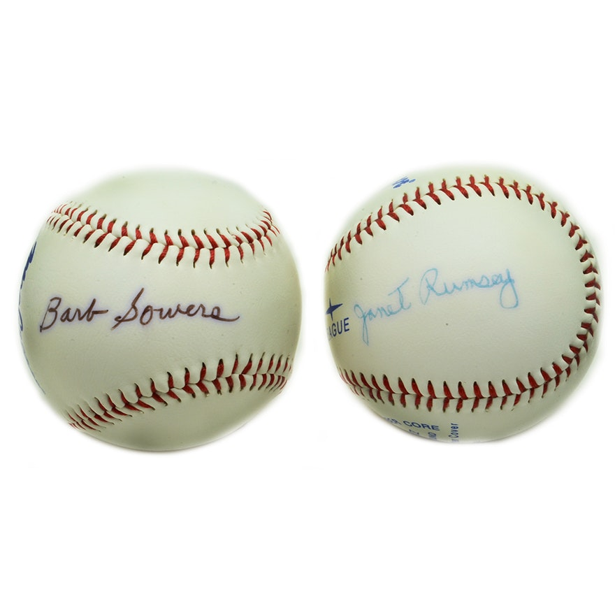72387185ab6 AAGPBL Signed Baseballs   EBTH