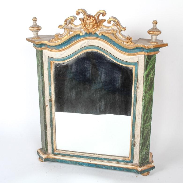 Antique French Medicine Cabinet