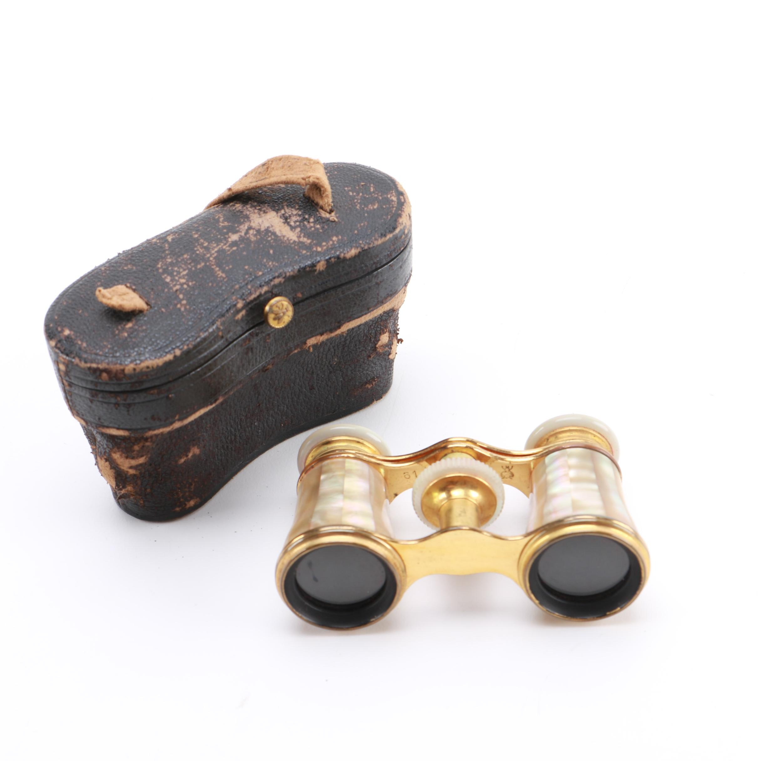 Vintage Lemaire Paris Mother of Pearl Opera Binoculars