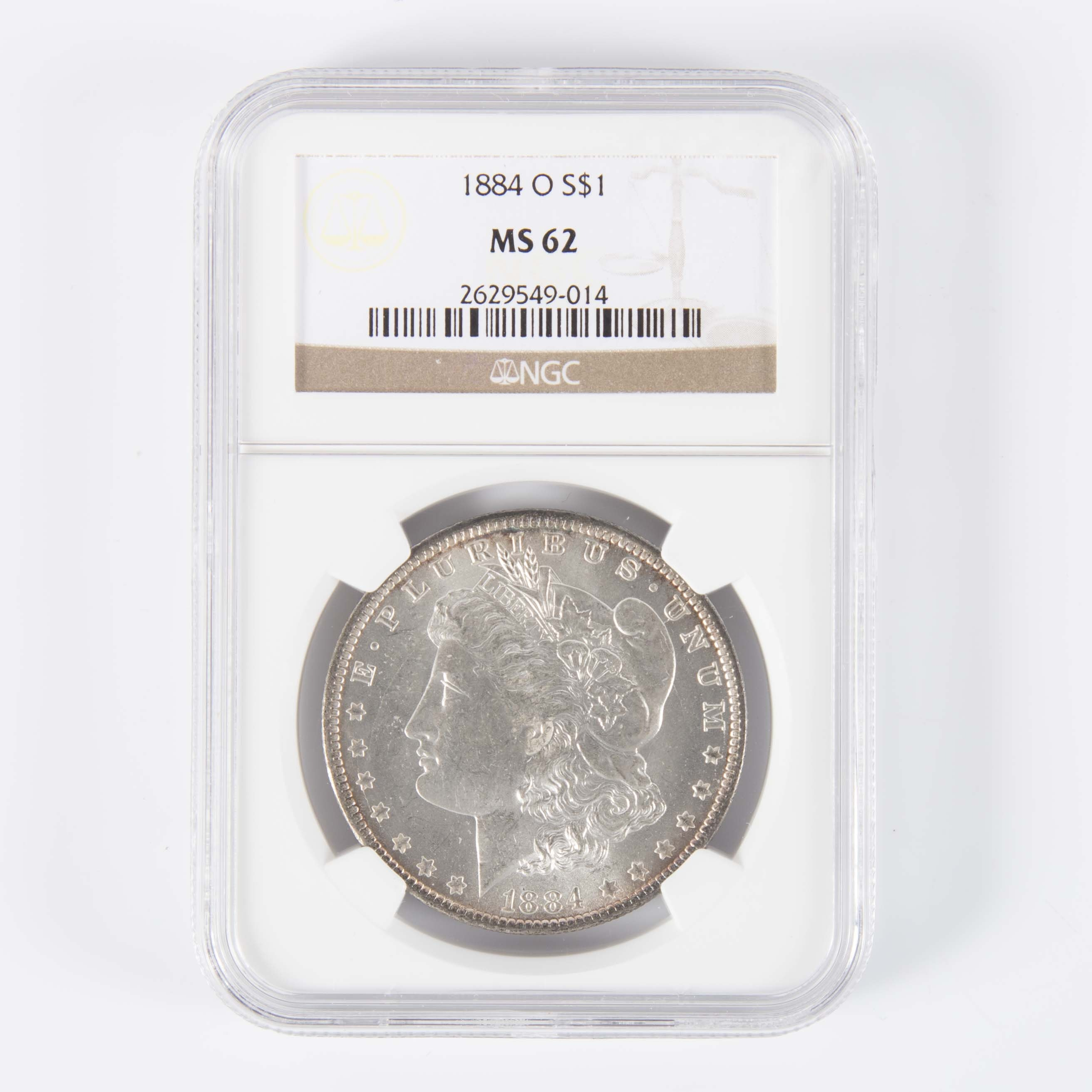 NGC MS 62 1884-O Morgan Silver Dollar