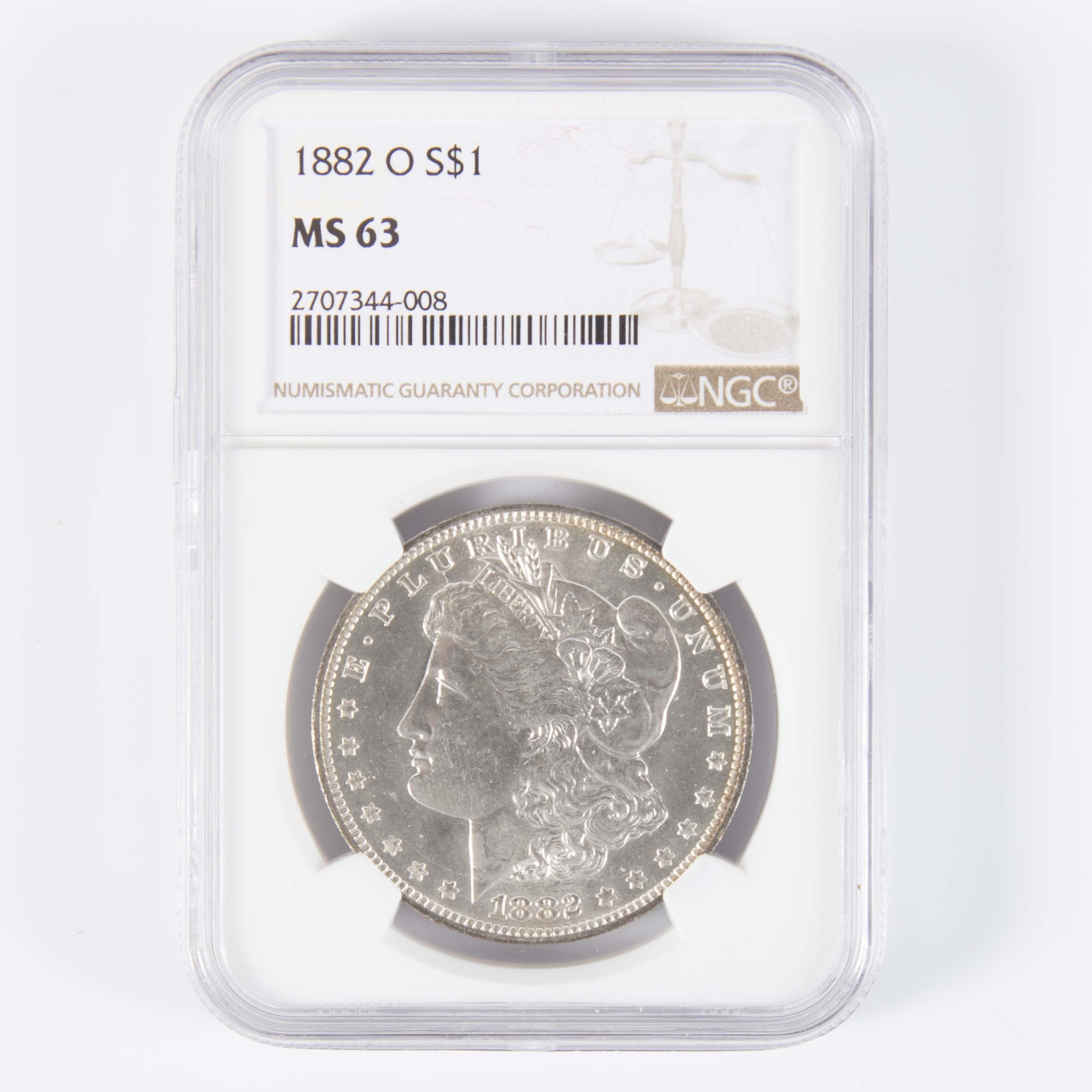 NGC MS 63 1882-O Morgan Silver Dollar
