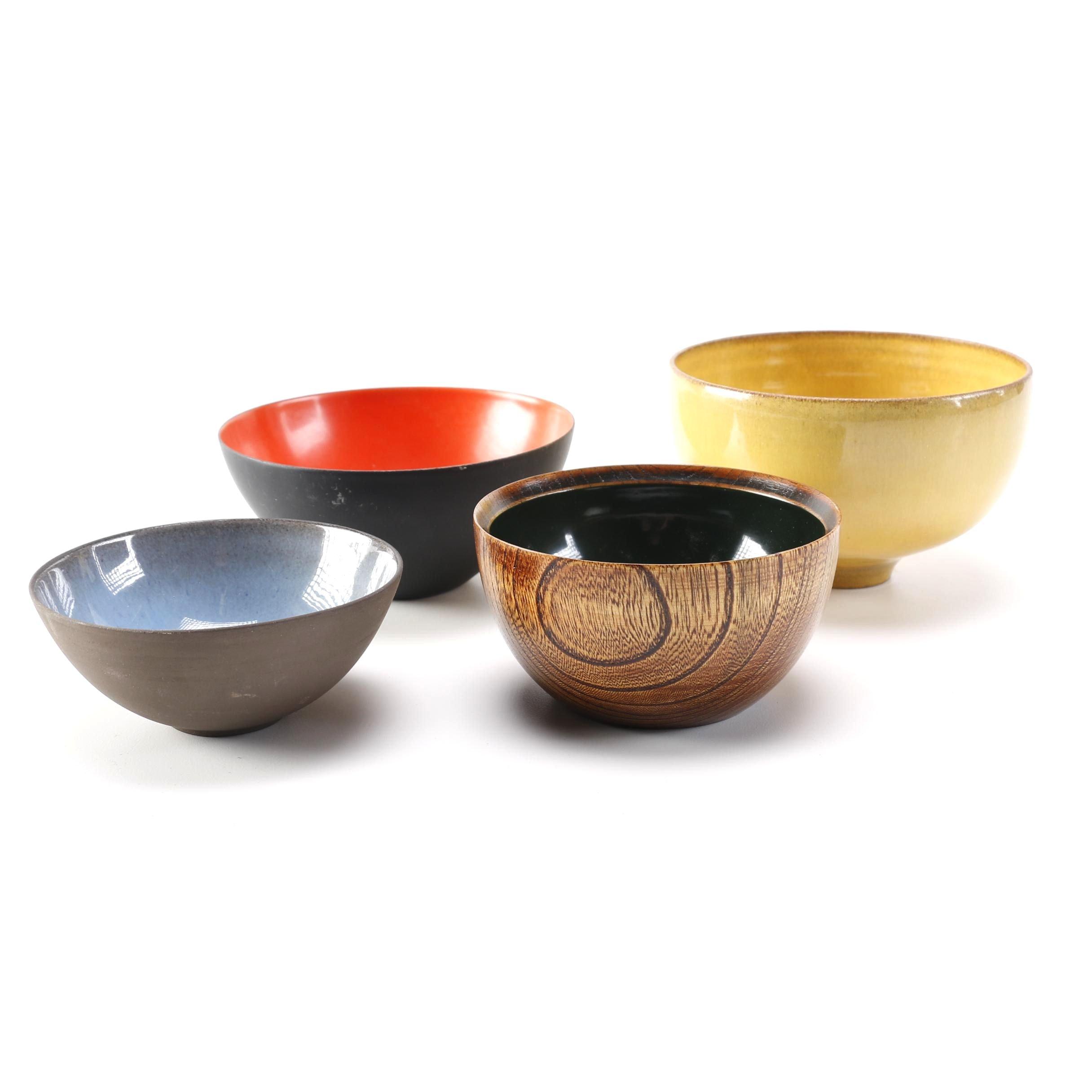 Modern Objet d'Art Bowls Including Gertrud and Otto Natzler