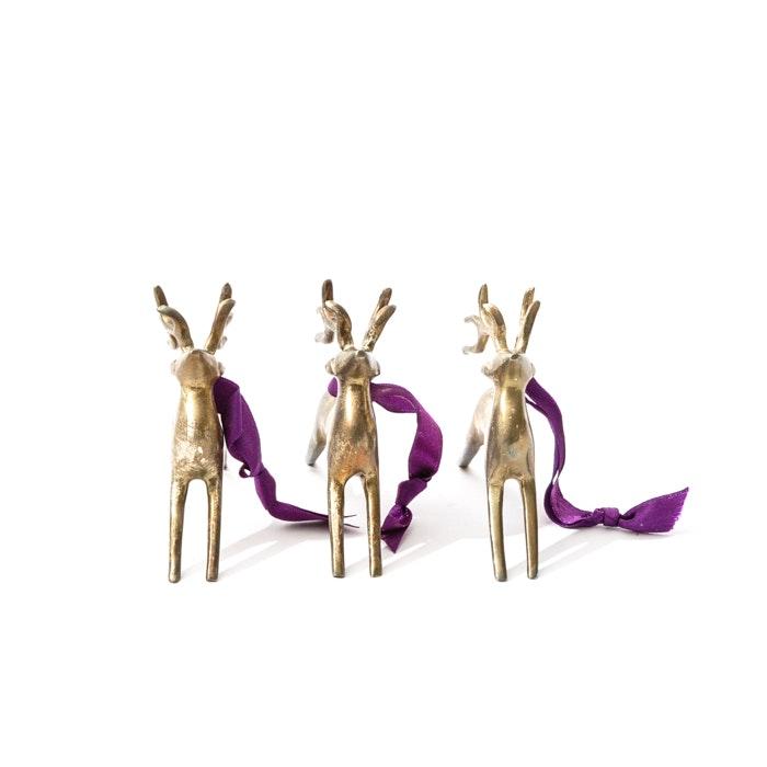 Bronze Reindeer Figurines