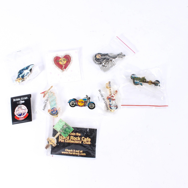 Pins Including Hard Rock Cafe