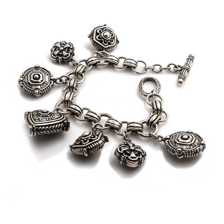 Sterling Silver Charm Bracelet