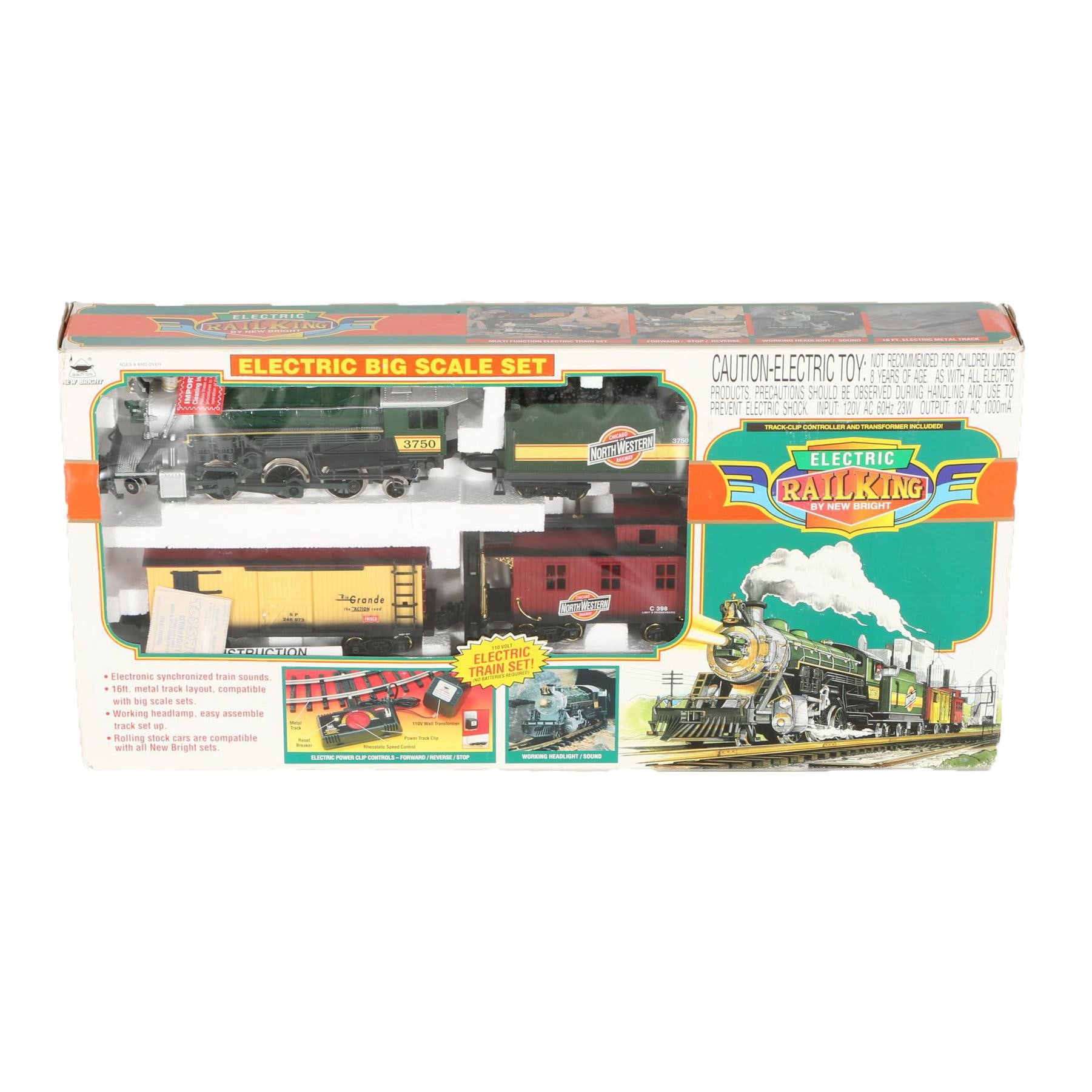 New Bright Electric Rail King Train Set