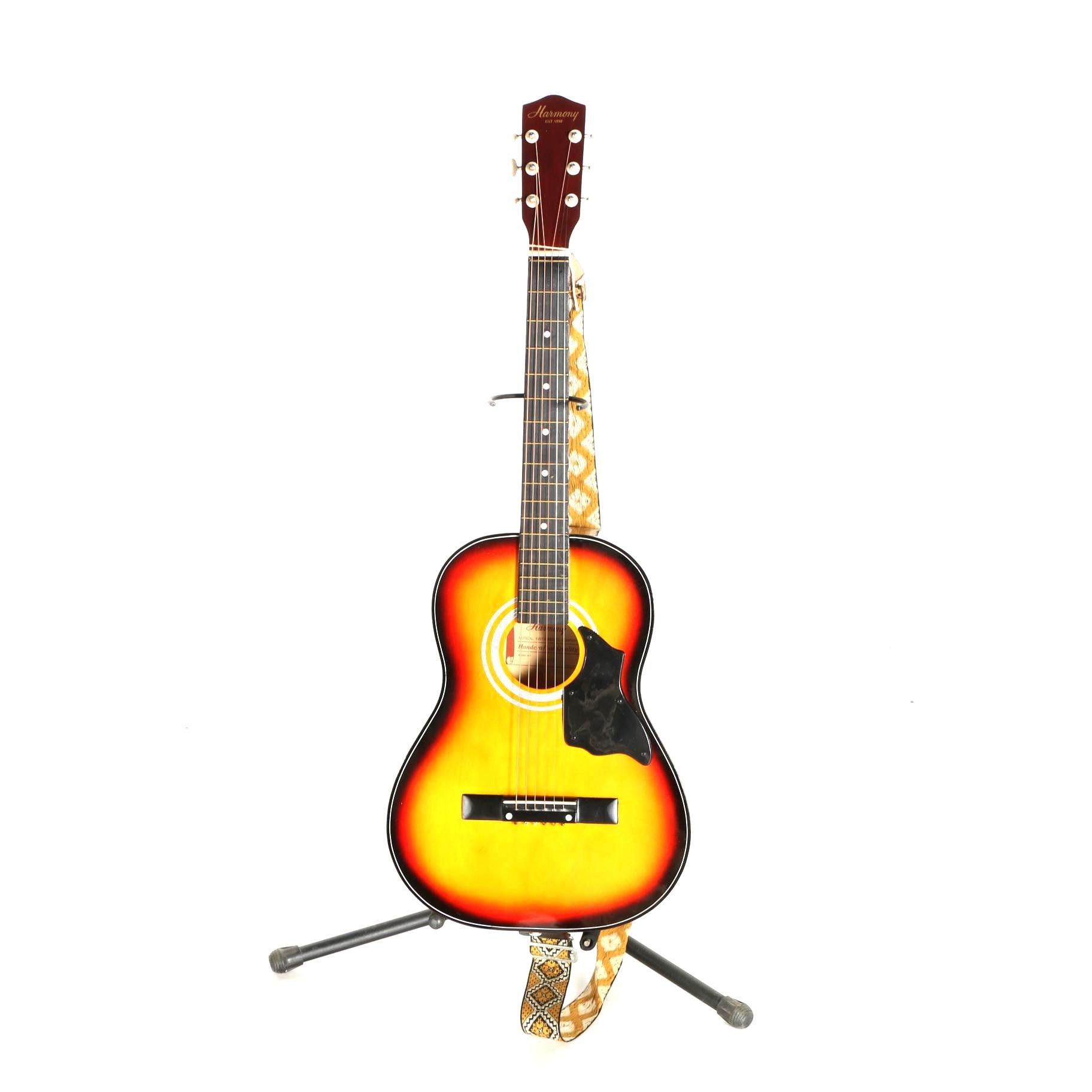 Vintage Harmony Acoustic Guitar