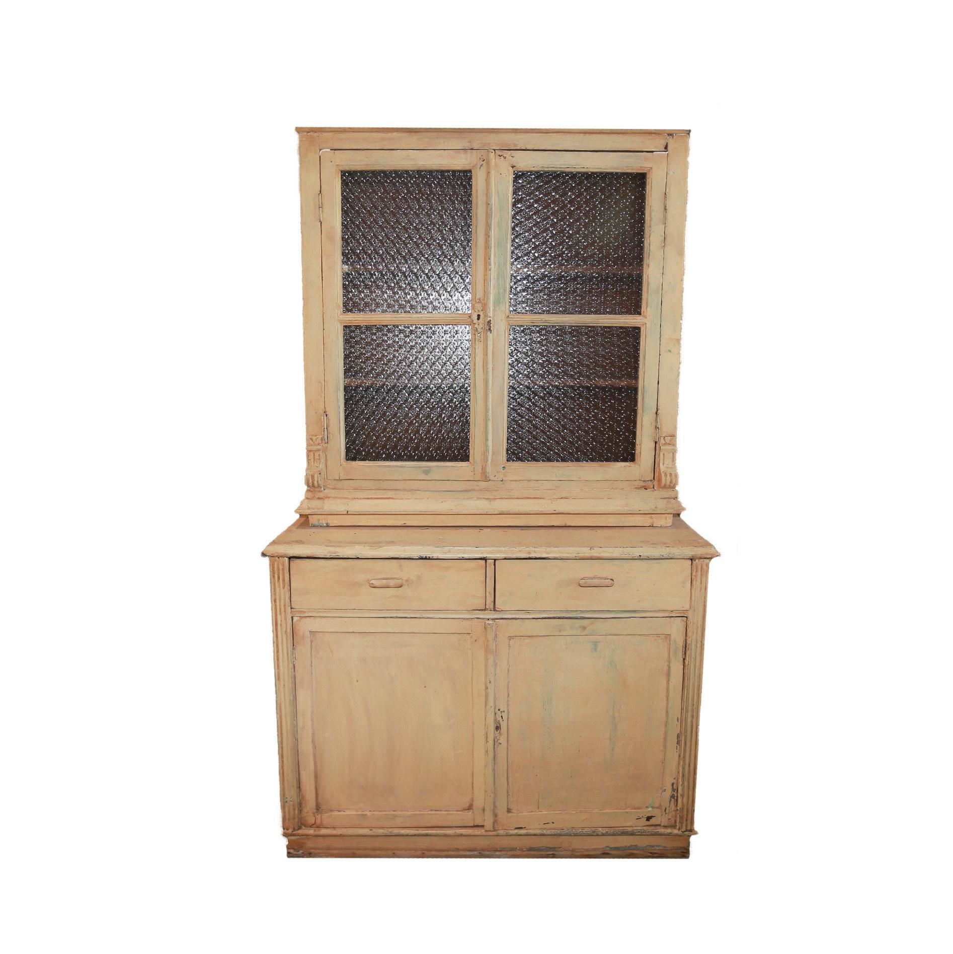 Vintage Glass Door Hutch