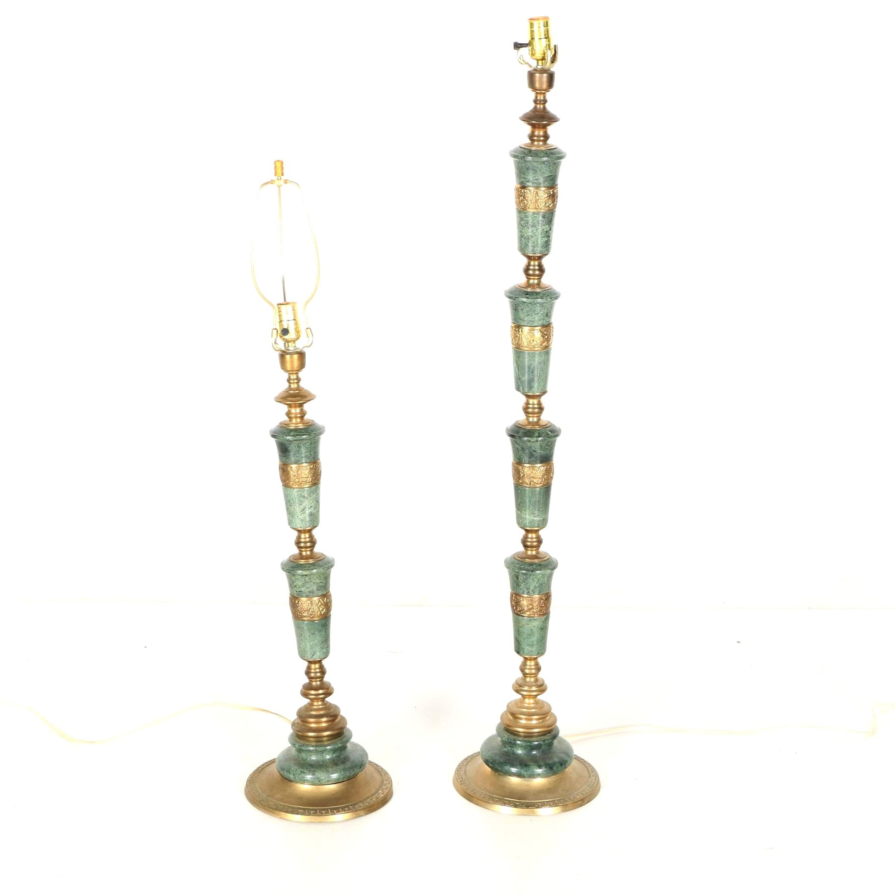 Marble and Brass Table Lamps
