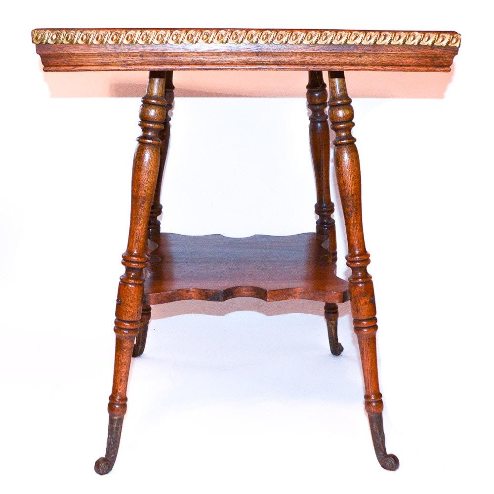 Mid 20th Century Oak Side Table
