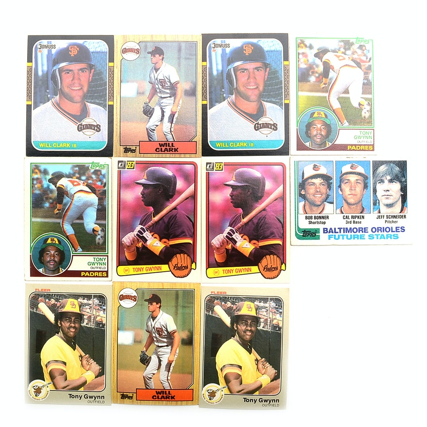 Gwynn Ripken Jr Clark Rookie Baseball Cards