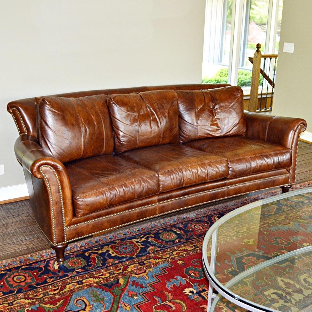 Closson's Surrey Style Leather Sofa