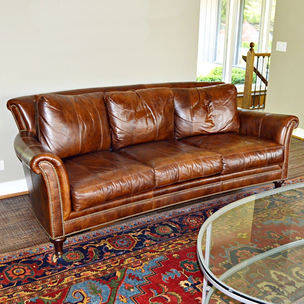 Closson's Surrey Style Leather Sofa