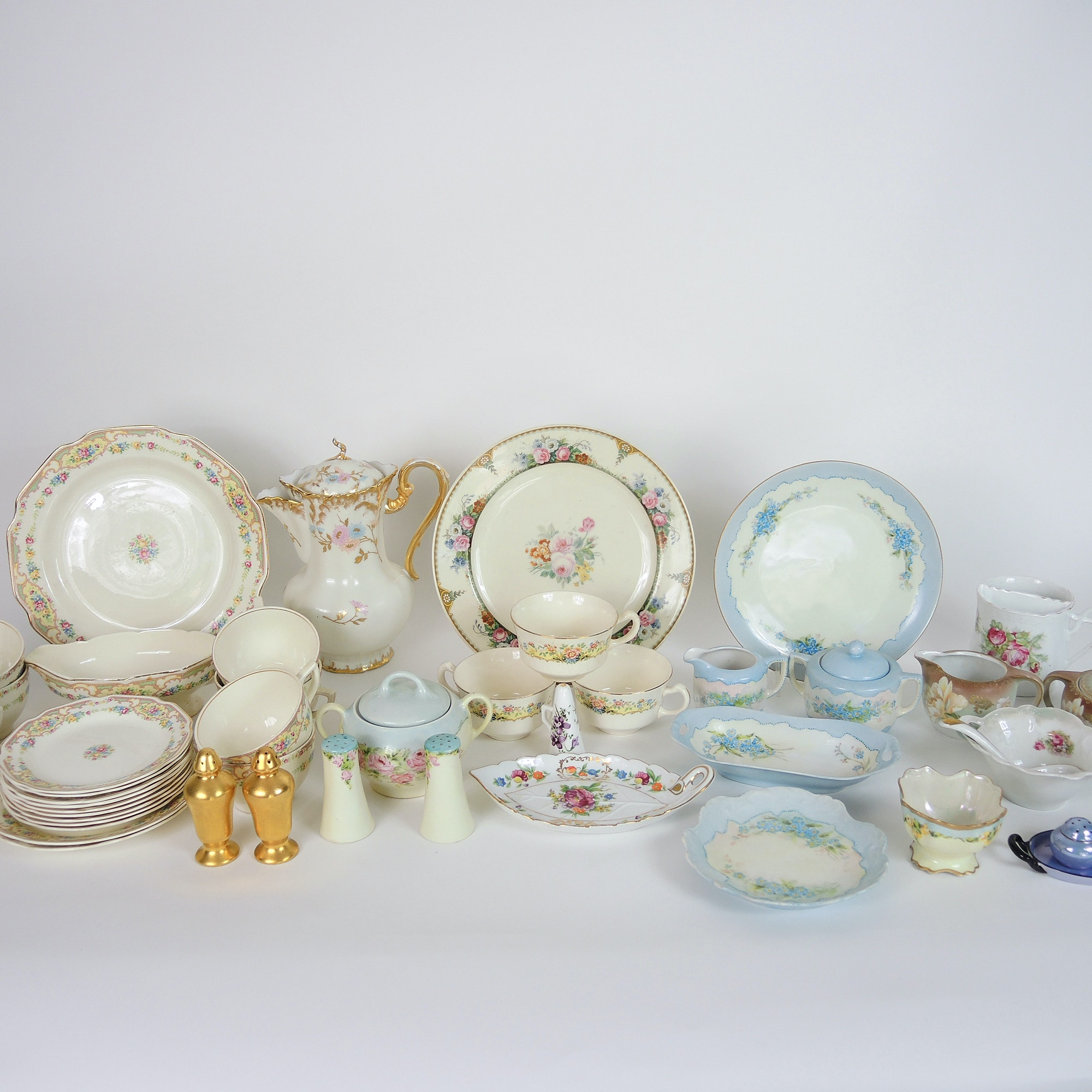 Vintage Hand Painted China Tableware Including Limoges : EBTH