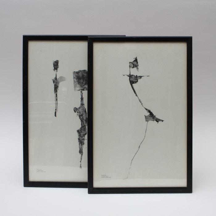 "Pietro Lazzari Offset Lithographs ""_I Carbonizzati_"" Plates XXX and XIII"