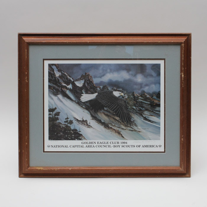 """William D. Rogers Jr. Limited Offset Lithograph """"Golden Eagle Club 1994"""""""