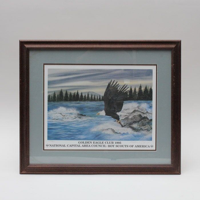 William Rodgers Jr. Limited edition Offset Lithograph of Eagle