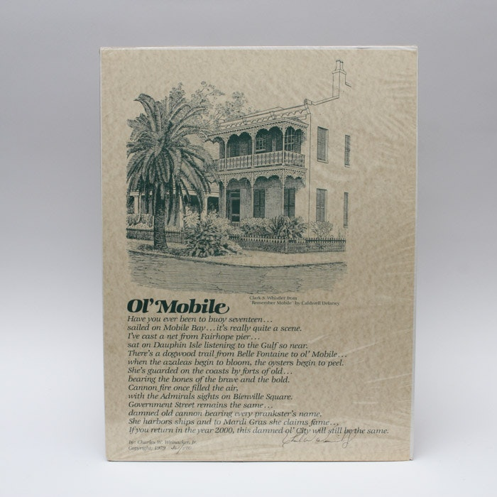 "Charles W. Weinacker Jr. Limited Edition Planographic Print of ""Ol' Mobile"""