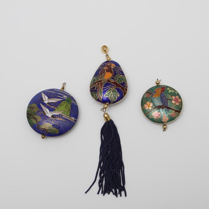 Chinese Cloisonne Pendants