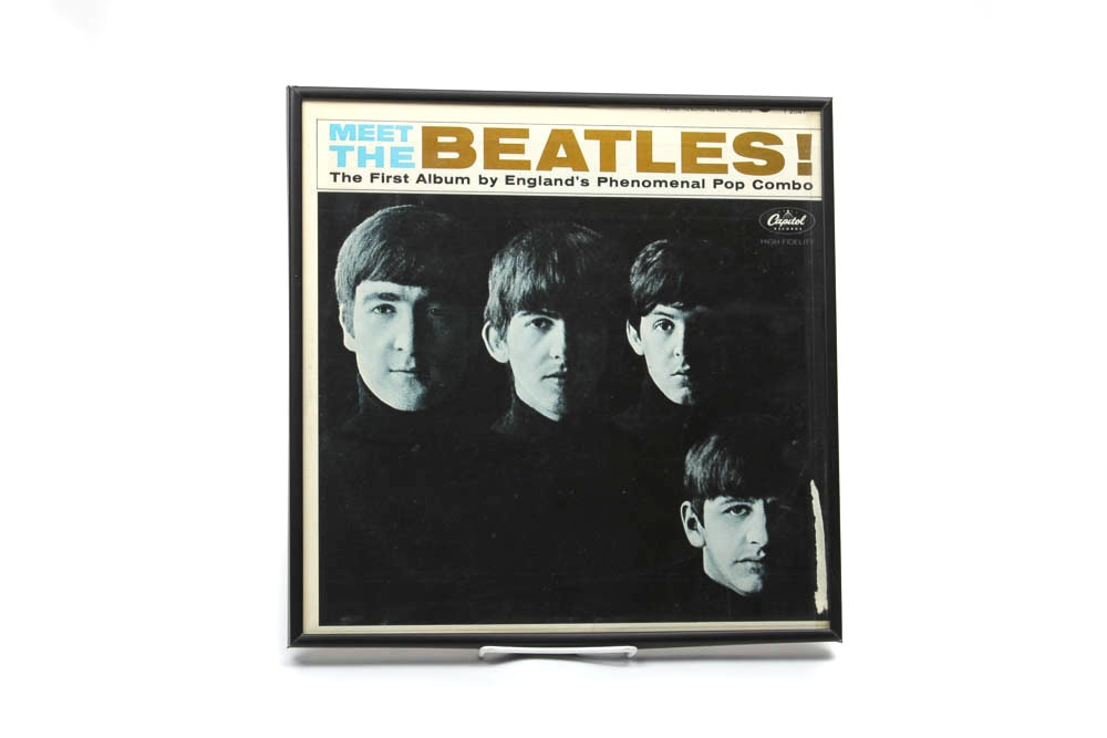 "Framed ""Meet The Beatles!"" LP"