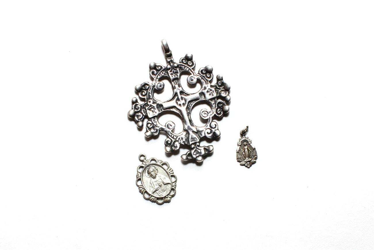 Sterling Silver Religious Pendants And Charms