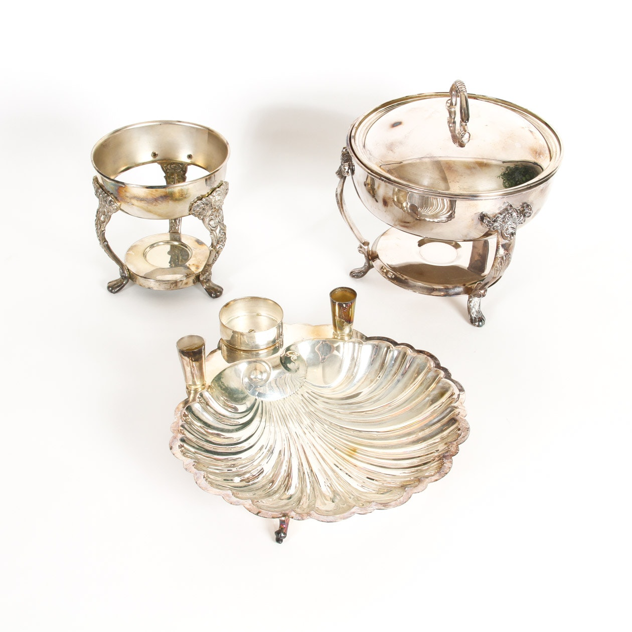 Collection of Silver Plated Serving Pieces