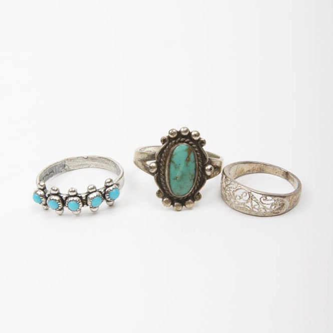 Sterling Silver Rings with Stones