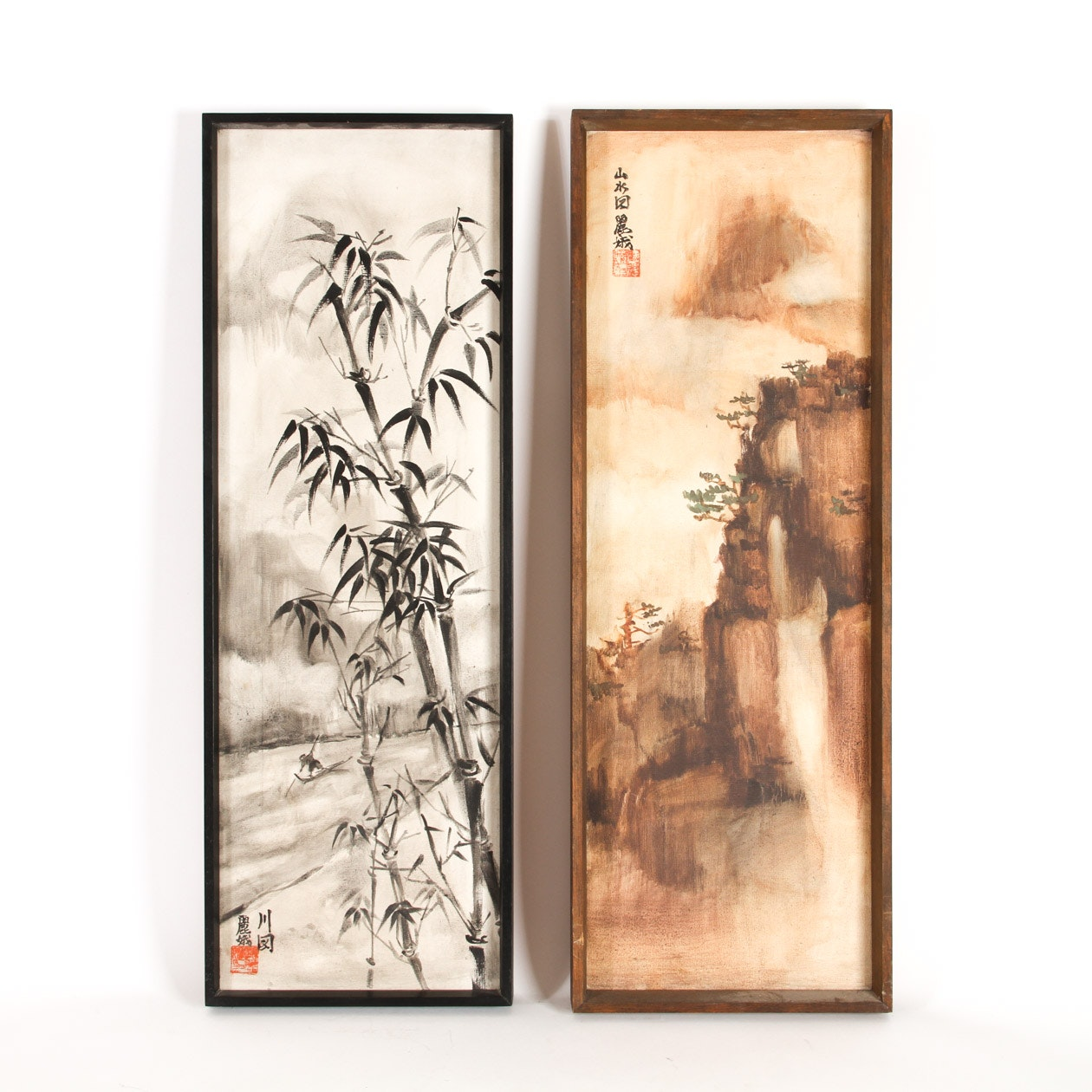Pair of Vintage Chinese Paintings